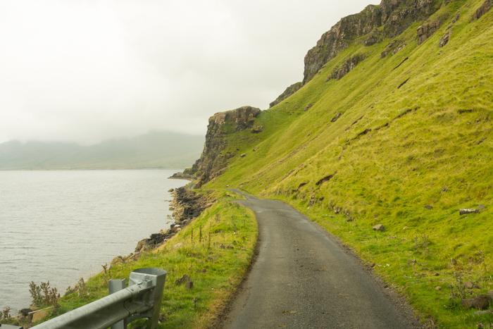 La carretera turística B8035 de la isla de Mull