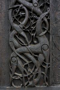 Detalle de la decoración en madera