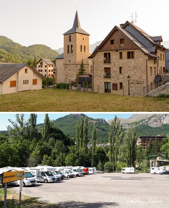 Panticosa y parking de la estación de esquí