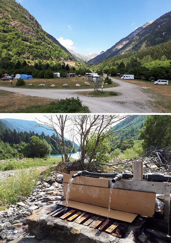 Camping Plan de Senarta y fuente de agua potable