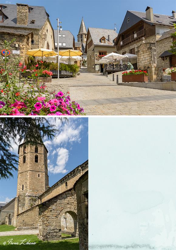 Plaza e iglesia de Salardú