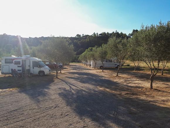 Área de autocaravanas de Lagrasse