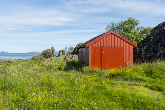 Caseta de aperos típica noruega