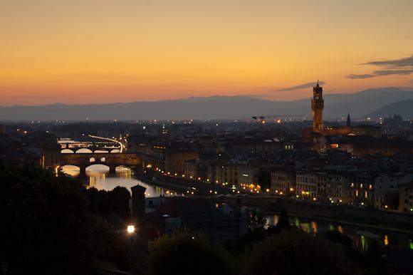 Vista de Florencia desde la Plaza Michelangelo