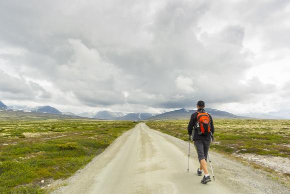 Camino al lago Rondvatnet