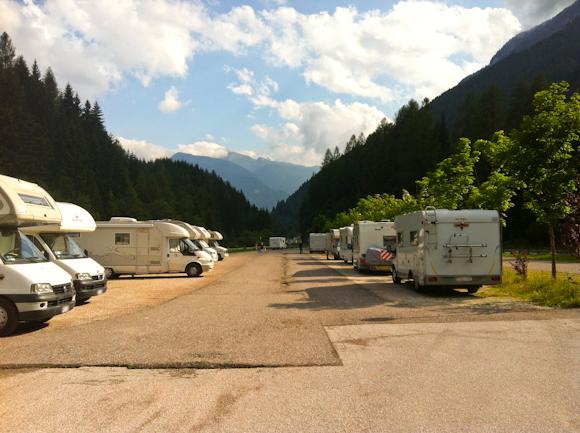 Área de autocaravanas de Predazzo