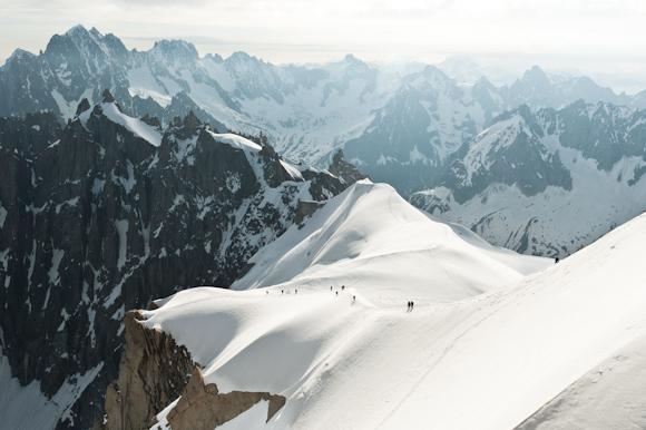 Vista de los Alpes desde el Aiguille du Midi