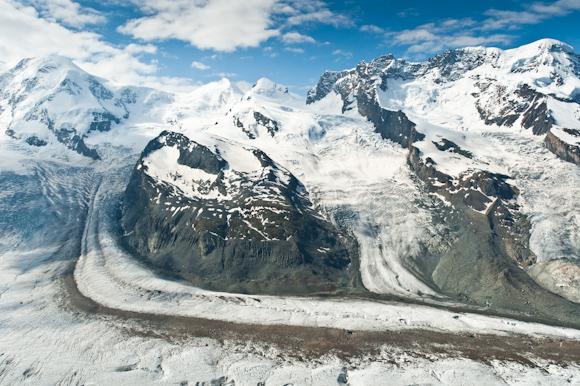 Lenguas glaciares desde el Gornergrat