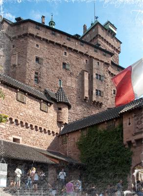 Vista exterior del Castillo de Haut-Koenigsbourg