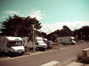 Área de autocaravanas en Quiberon