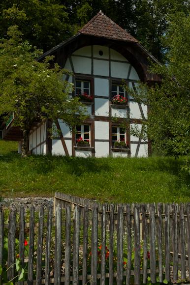 Una de las casas del museo Ballenberg