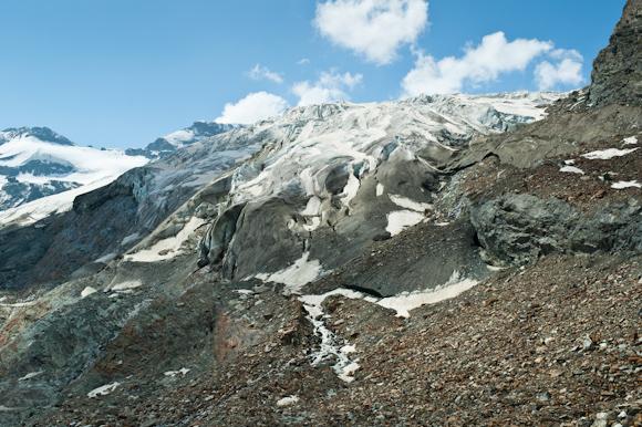Glaciar desde la cima del Spielboden