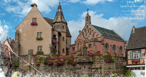 Iglesia y palacio del papa San León IX en Eguisheim