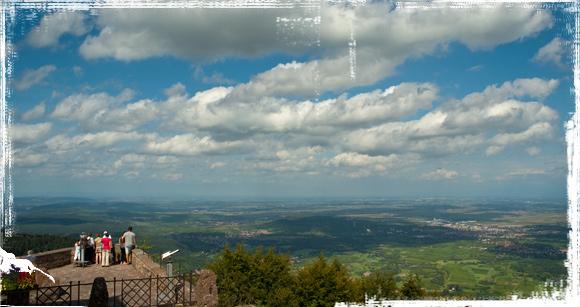 Vistas panorámicas de Alsacia desde el Monte Santa Odile