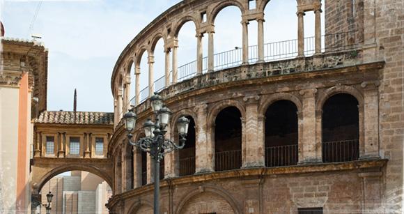 Arcos de la parte trasera de la Catedral de Santa María de Valencia