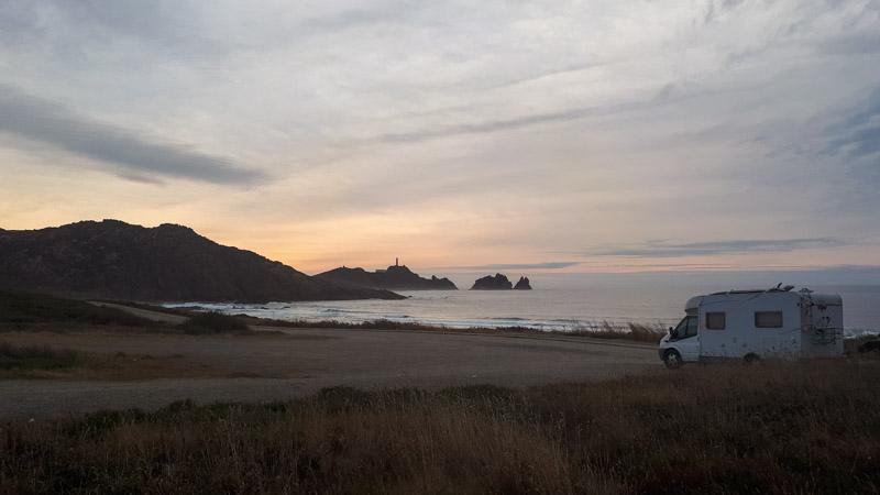 Playa da Balea en autocaravana, Galicia