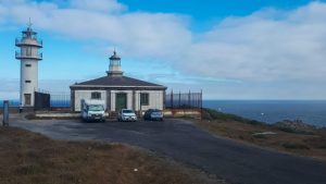 Parking del Faro de Touriñán en autocaravana, Galicia